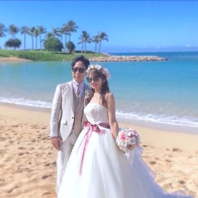 ハワイ挙式の花冠&ブーケ