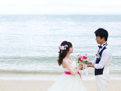 沖縄挙式 貝殻ブーケ