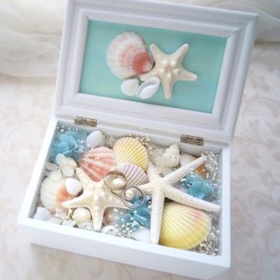 貝殻 リングピロー
