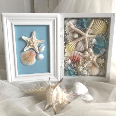 貝殻のフォトスタンド