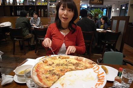 ピザを喰う