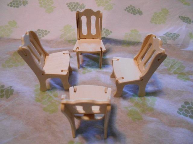ウッドクラフト椅子4外