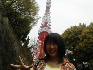 東京タワーをバックに!