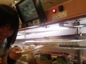 かっぱ寿司の特急にびっくり