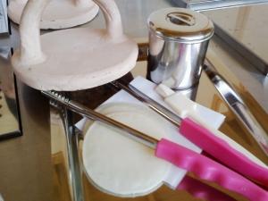手焼きせんべいの道具