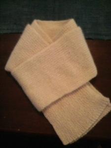 手編みマフラー