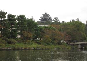 堀川めぐりから松江城