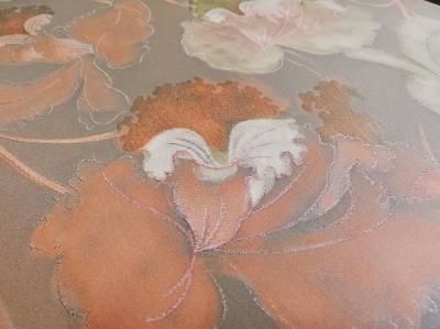 徳島市 呉服屋 きもの 個性的 蘭の柄