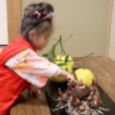 徳島城博物館 春 お煎茶 着物 お子さん