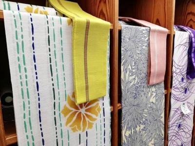 竺仙 ゆかた 綿絽 黄色 花 2019年新作 徳島おすすめ浴衣