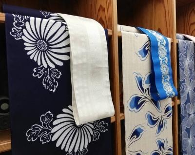 伝統的な紺色ゆかた・徳島県の花火大会にも