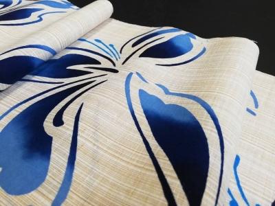 茶紬の奥州小紋の様な色の紬ゆかたin徳島