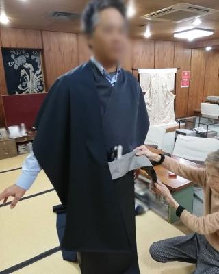 男性の着物 徳島 お客様 そごう徳島店近くの呉服店