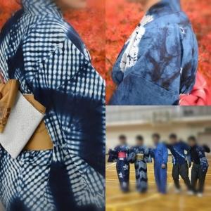 吉野川高校 藍染班 藍染浴衣 課題研究発表会 徳島県