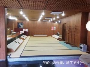 徳島市 老舗呉服店 展示会 畳のある景色