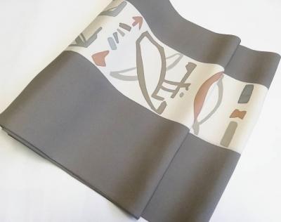 オシャレな着物 名古屋帯 象形文字 デザイン 徳島市の呉服店 きもの婦久や