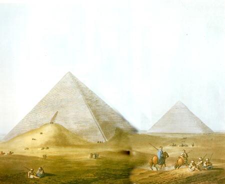 ルイジ・マイヤーエジプトの風景ピラミッド