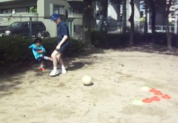 ギャリーさんとサッカー