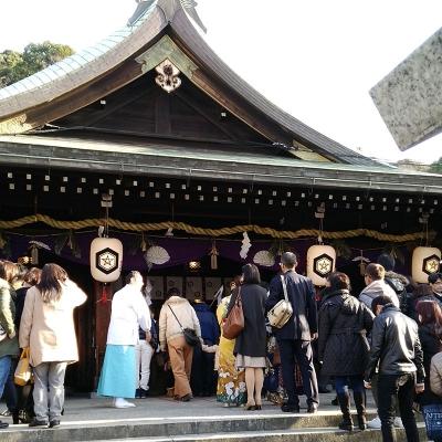 初詣,比治山神社