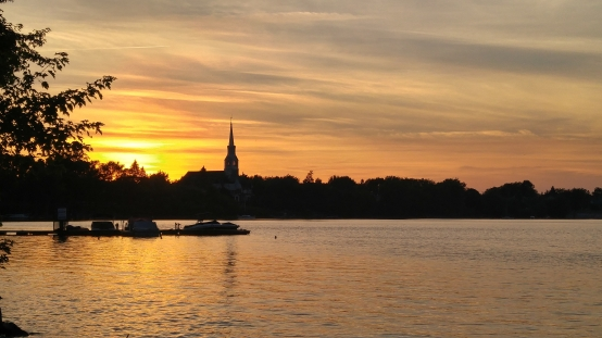 sunset chambly canada quebec ケベック州 夕日 海外生活 海外移住