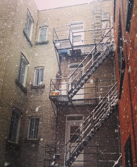 montreal モントリオール 冬 雪