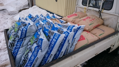 堆肥と米ぬか