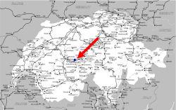 インターラーケン地図