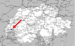 ローザンヌ地図