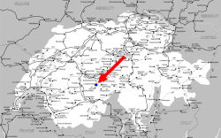 ラウターブルンネン地図