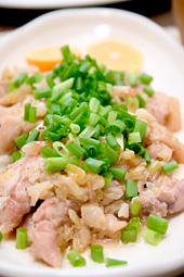 三河地鶏のネギ塩焼き
