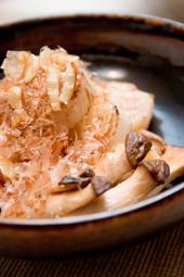 長芋とエリンギのニンニク炒め