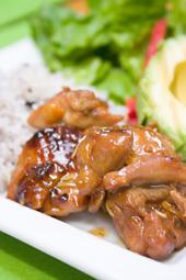 鶏肉のマーマレード照り焼き