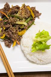 牛肉と野菜の炒め物ご飯