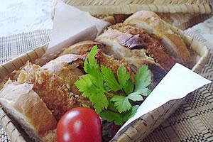メンチカツのサンドイッチ