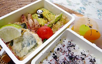 お弁当「鯵の天ぷら」