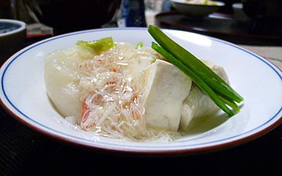 豆腐と蕪の蟹あんかけ