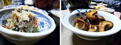 卯の花、椎茸のバター醤油炒め