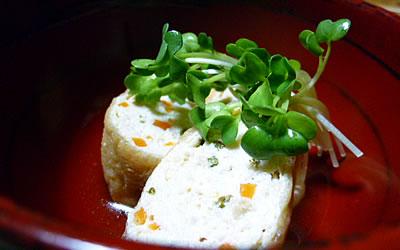 豆腐と鶏ひき肉の袋煮