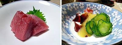 本マグロ(赤身・蛸の芥子酢味噌)