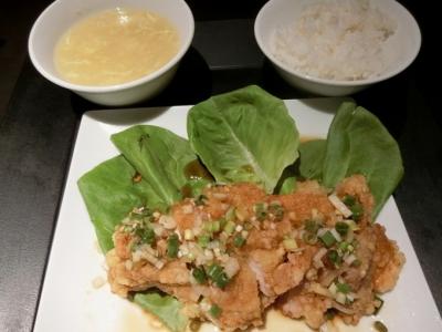 渋谷西武「中国料理 白金亭」ランチ御膳油淋鶏