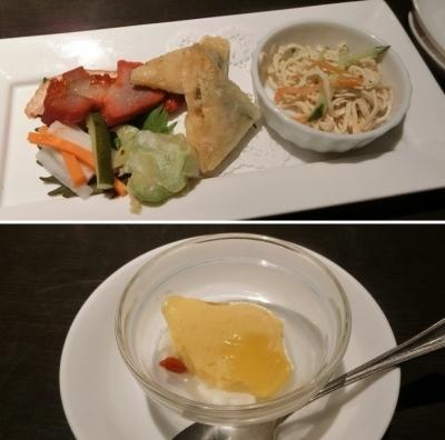 渋谷西武「中国料理 白金亭」ランチ御膳 前菜 デザート