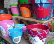 手描きうえき鉢1