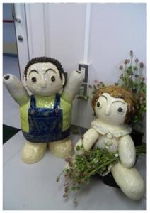 東京都障害者展の作品と