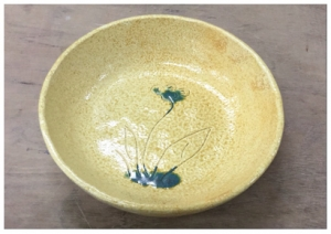 黄瀬戸草紋鉢