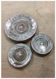 飛びカンナの皿