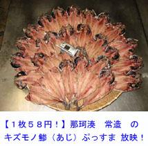 【1枚58円!】那珂湊 常造 の キズモノ 鯵(あじ) ぷっすま 放映!