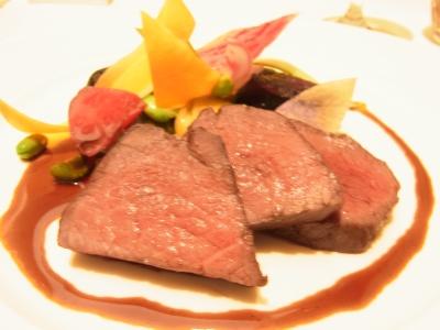 蝦夷鹿のロティ 本日の野菜 ソースヴァンルージュ