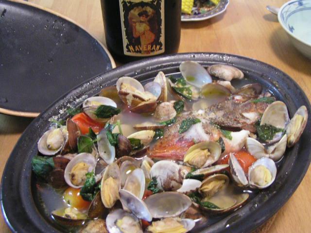 ワイン蔵の番人の魚料理