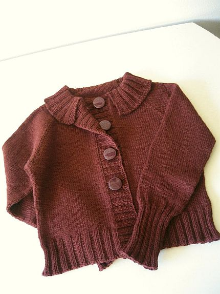 Top-down sweater
