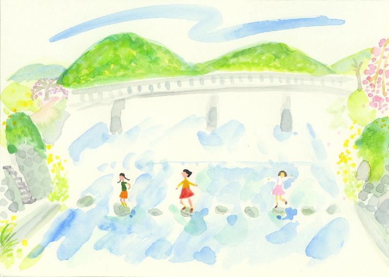 中井敦子「少年時代」原画